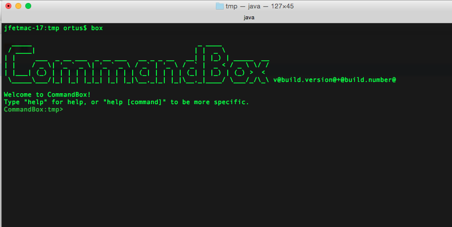 CommandBox Screenshot