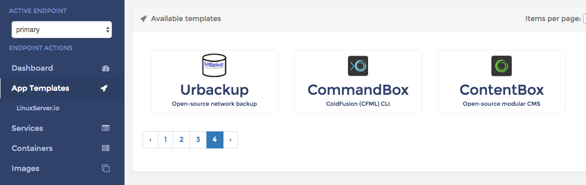 Portainer Docker Support for CommandBox and ContentBox